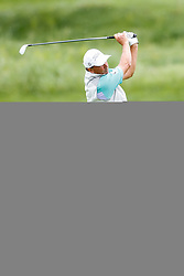 June 22, 2018 - Madison, WI, U.S. - MADISON, WI - JUNE 22: Jerry Smith hits his second shot on the ninth hole during the American Family Insurance Championship Champions Tour golf tournament on June 22, 2018 at University Ridge Golf Course in Madison, WI. (Photo by Lawrence Iles/Icon Sportswire) (Credit Image: © Lawrence Iles/Icon SMI via ZUMA Press)