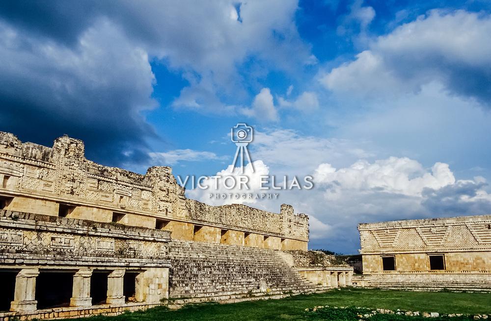 Uxmal # 11          Nuns Quadrangle Mayan Ruins of Uxmal.
