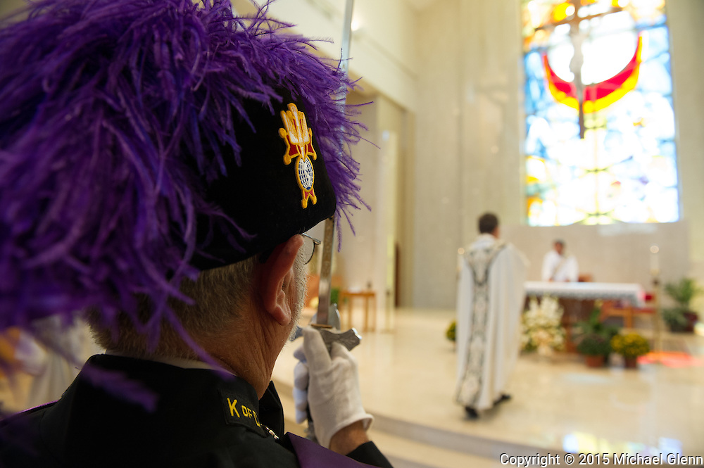 22 Aug. 2015 Lacey USA //  Parishoners at St Pius X R.C. Participate in a blessing and procession for St Pius X  // Michael Glenn/Glenn Images