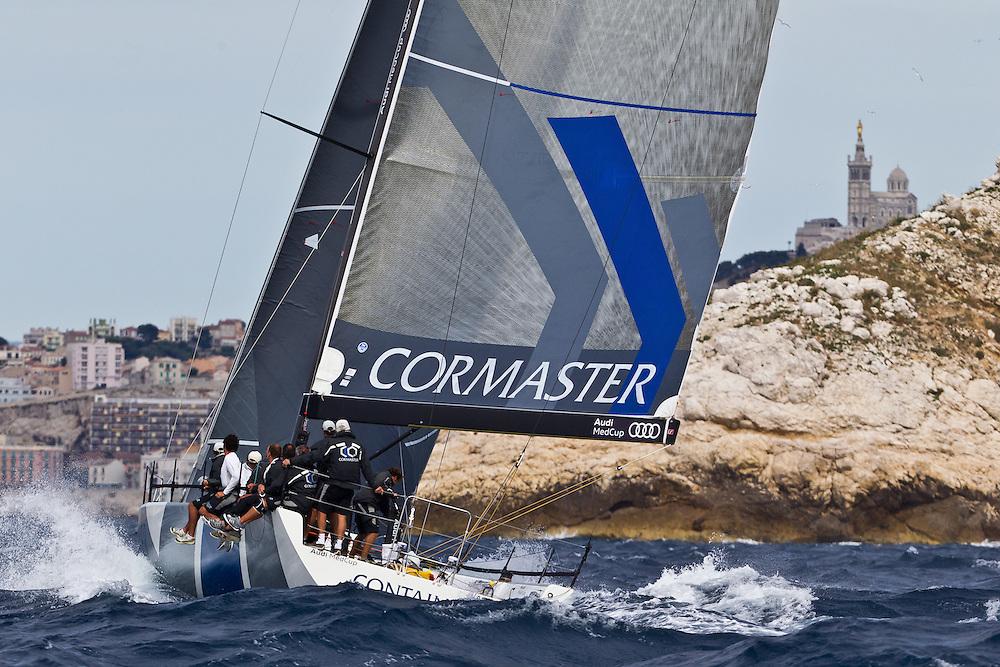 FRANCE, Marseille. 18th June 2011. AUDI MedCup Marseille Trophy. Costal Race. TP52, CONTAINER.