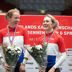 29-12-2019: Wielrennen: NK Baan: Alkmaar<br />Wereldkampioen koppelkoers Amy Pieters en Kirsten Wild pakken de titel.