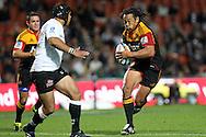 Chiefs' Tana Umaga makes a run. Super 15 rugby union match, Chiefs v Sharks at Waikato Stadium, Hamilton, New Zealand. Friday 18th March 2011. Photo: Anthony Au-Yeung / photosport.co.nz
