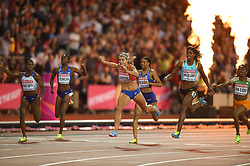 August 11, 2017 - London, England, United Kingdom - Dafne Schippers of Nederlands winning the 200 meter  final in London at the 2017 IAAF World Championships athletics at the London Stadium in London on August 11, 2017. (Credit Image: © Ulrik Pedersen/NurPhoto via ZUMA Press)