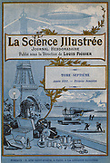 Cover of French weekly scientific magazinr - 1891.