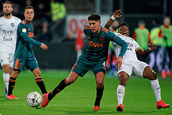 Issah Abass #21 of FC Utrecht and Edson Alvarez #4 of Ajax in action during the semi final KNVB Cup between FC Utrecht and Ajax Amsterdam at Stadion Nieuw Galgenwaard on March 04, 2020 in Amsterdam, Netherlands