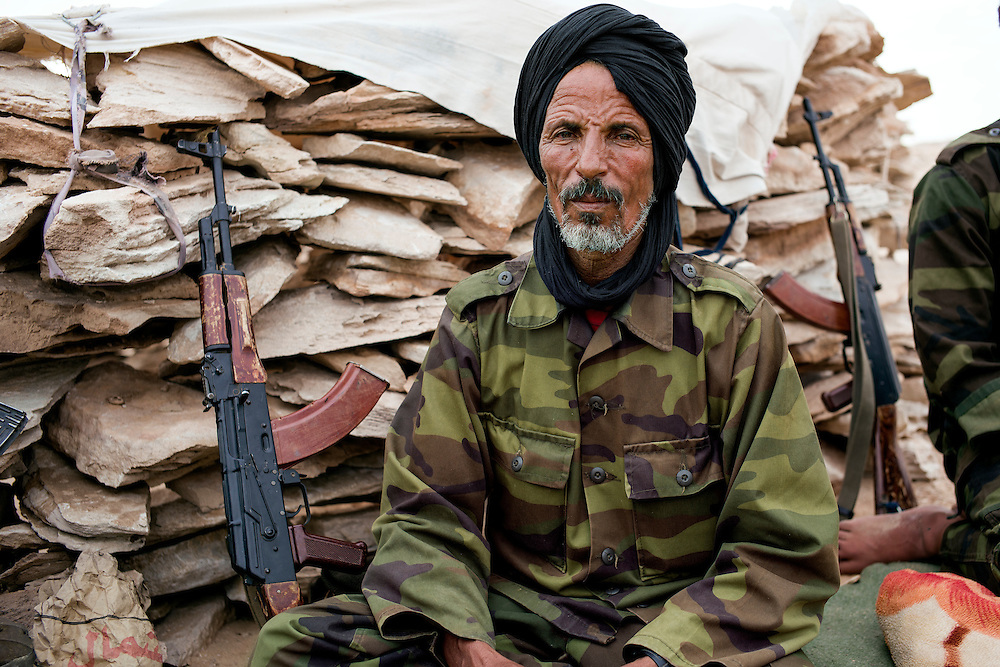 Western sahara/Guerguerat 2016-10-17<br /> Sueida Ahmed Ahmada, 67, is based a few kilometers behind the last Polisario post in the, normally, demilitarized buffer zone between occupied Western Sahara and Morocco. A couple of hundred heavily armed Polisario soldiers have been sent to the area since the situation began deteriorating on August 14th.