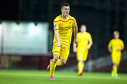 UPTON PARK, ENGLAND - Friday, September 12, 2014: Liverpool's Alex O'Hanlon in action against West Ham United during the Under 21 FA Premier League match at Upton Park. (Pic by David Rawcliffe/Propaganda)