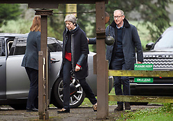 © Licensed to London News Pictures. 15/04/2018. British prime minister THERESA MAY attends a morning church service with her husband PHILIP MAY. The UK joined The U.S.A and France in a series of military strikes in Syrian aimed at chemical weapons facilities. Photo credit: Ben Cawthra/LNP