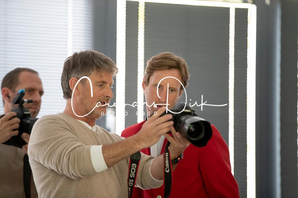 Henk van Cauwenbergh, Pieter Devos<br /> Foto shoot met Henk van Cauwenbergh voor KBRSF - Zaventem 2018<br /> © Hippo Foto - Dirk Caremans<br /> 01/05/2018