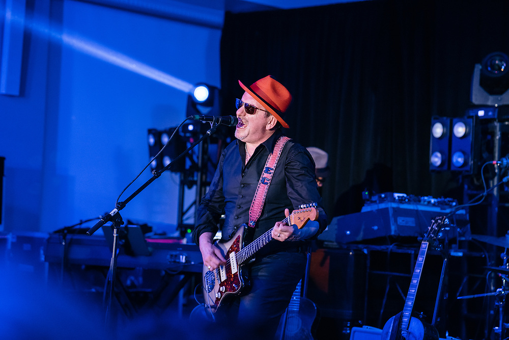 Elvis Costello performs at the Full Frontal with Samantha Bee's Not the White House Correspondents' Dinner afterparty.