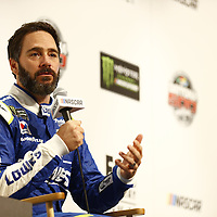 Daytona Beach, FL - Feb 22, 2017: Jimmie Johnson (48) meet with the media during the annual Daytona 500 Media Day at the Daytona International Speedway in Daytona Beach, FL.
