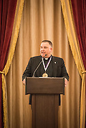 The Rev. Craig G. Muehler, director of the LCMS Ministry to the Armed Forces, gives remarks at the LCMS Ministry to the Armed Forces Recognition Dinner, part of the 66th Regular Convention of The Lutheran Church–Missouri Synod, on Sunday, July 10, 2016, in Milwaukee. LCMS/Michael Schuermann