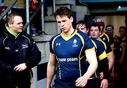 Worcester Warriors U18 walk out to face Sale Sharks U18 - Mandatory by-line: Robbie Stephenson/JMP - 29/01/2017 - RUGBY - Sixways Stadium - Worcester, England - Worcester Warriors U18 v Sale Sharks U18 - Premiership Rugby U18 Academy League