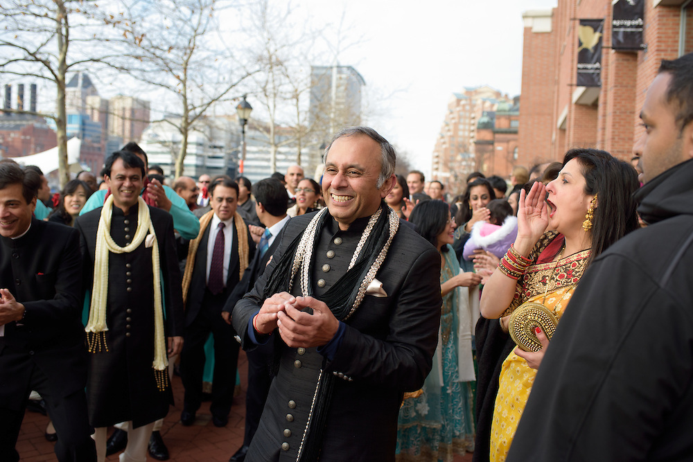 Baltimore, Maryland - December 20, 2014: Trisha Satya Pasricha and Eshwan Ramudu married at the Baltimore Marriott Waterfront Hotel December 20, 2014. <br /> <br /> <br /> CREDIT: Matt Roth for The New York Times<br /> Assignment ID: 30168620A