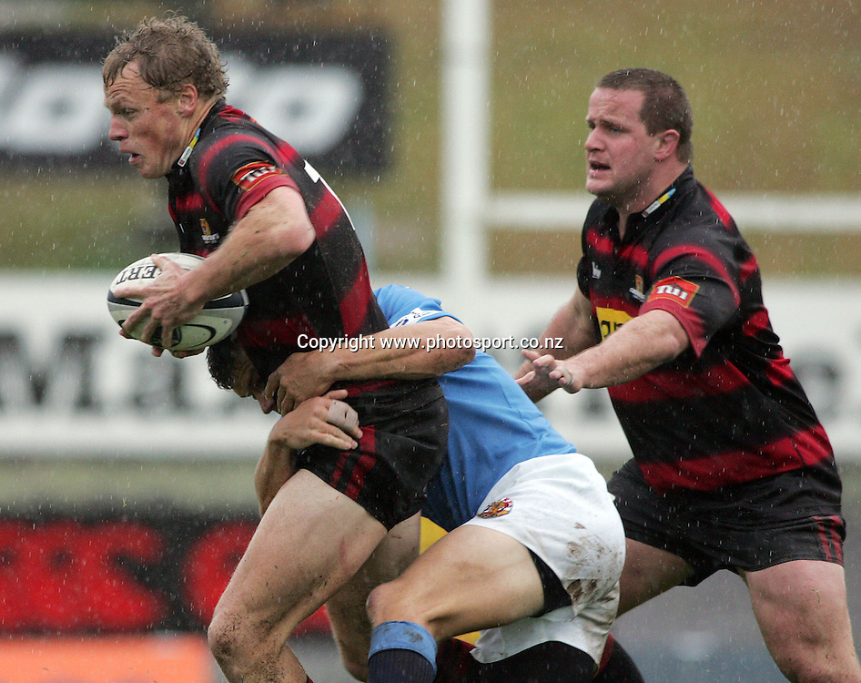 Scott Hamilton in action during the Air New Zealand Cup rugby union match between Northland and Canterbury at ITM Stadium, Whangarei, New Zealand on Saturday 5 August, 2006. Canterbury won the match 25 - 11. Photo: Hannah Johnston/PHOTOSPORT<br /> <br /> <br /> <br /> <br /> 050806