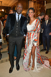 OZWALD BOATENG and NOELLA COURSARIS MUSUNKA at the LDNY Fashion Show and WIE Award Gala sponsored by Maserati held at The Goldsmith's Hall, Foster Lane, City of London on 27th April 2015.