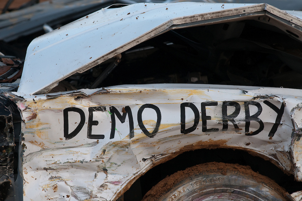 Vehicles in a demolition derby