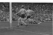 Dublin player falls as he runs towards the goal during the All Ireland Senior Gaelic Football Championship Final Kerry v Dublin at Croke Park on the 22nd September 1985. Kerry 2-12 Dublin 2-08.