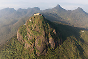 Aerial view of Adam's Peak or Sri Pada, the Holy Mountain of Sri Lanka.