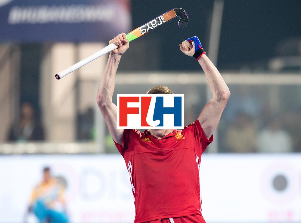 Odisha Men's Hockey World League Final Bhubaneswar 2017<br /> Match id:05<br /> 06 IND v ENG (Pool B)<br /> Foto: Sam Ward (Eng)celebrates his 2-3 goal.<br /> WORLDSPORTPICS COPYRIGHT FRANK UIJLENBROEK