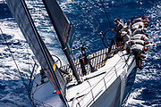 Proteus sailing in the  Corfu Challenge, day three.