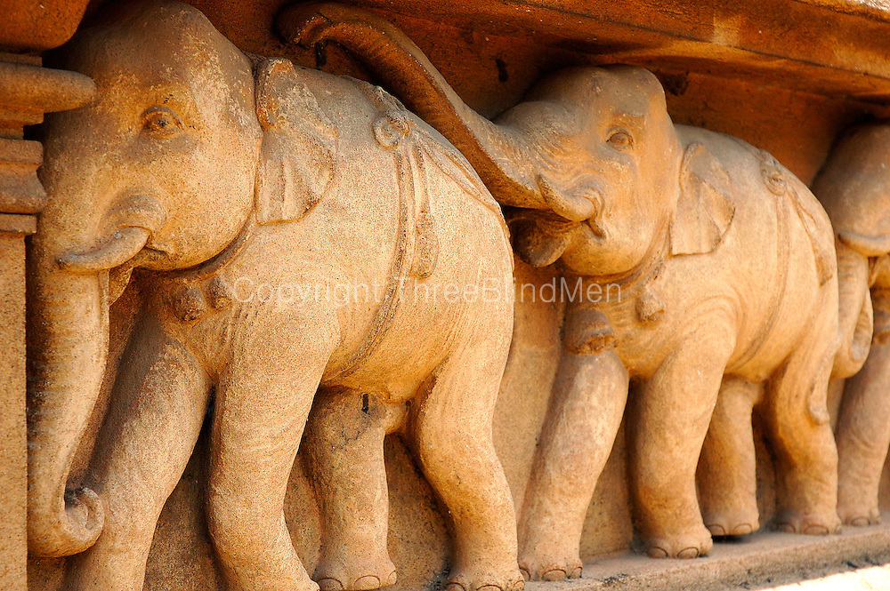 Elephant detail from Kelaniya Temple.