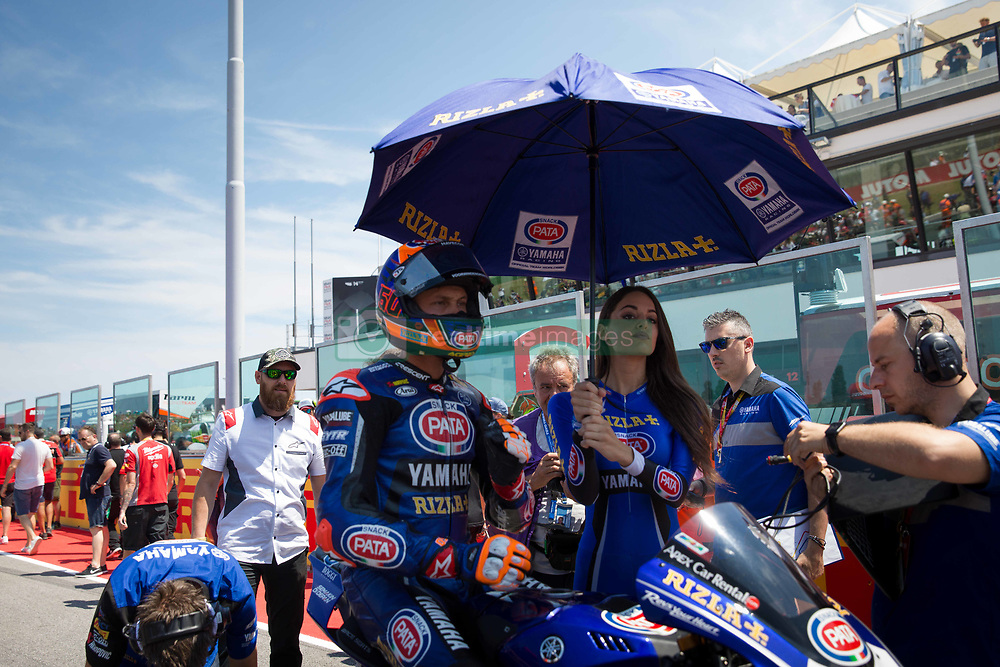 July 8, 2018 - Misano, RN, Italy - Michael Van Der Mark of Pata Yamaha Official WorldSBK Team before race 2 of the Motul FIM Superbike Championship, Riviera di Rimini Round, at Misano World Circuit ''Marco Simoncelli'', on July 08, 2018 in Misano, Italy  (Credit Image: © Danilo Di Giovanni/NurPhoto via ZUMA Press)