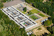 Nederland, Utrecht, Gemeente Soest,  30-09-2015. Het Kamp van Zeist, ook Kamp Zeist of Kamp bij Zeist genoemd. AZC Zeist.<br /> luchtfoto (toeslag op standard tarieven);<br /> aerial photo (additional fee required);<br /> copyright foto/photo Siebe Swart