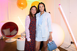 EDITORIAL USE ONLY<br /> Nichola Joss and Yasmin Evans at the FOREO launch party in London for the world&Otilde;s first smart mask device, the FOREO UFO.