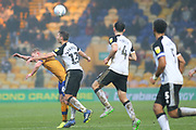 Port Vale midfielder Will Atkinson (12) clears thew ball during the EFL Sky Bet League 2 match between Mansfield Town and Port Vale at the One Call Stadium, Mansfield, England on 26 December 2019.