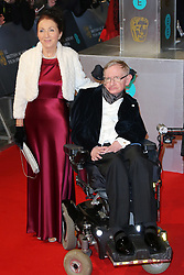 Stephen Hawking and wife attend the EE British Academy Film Awards at The Royal Opera House on February 8, 2015 in London, UK. Photo by Bakounine/ABACAPRESS.COM    486940_017 London Royaume Uni United Kingdom