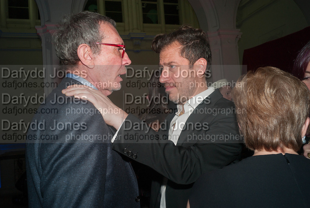 ARNE GLIMCHER; SANDY ROWER; ( CALDER'S GRANDSON), Calder After The War. Pace London. Burlington Gdns. London. 18 April 2013.