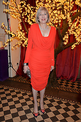 The Home Secretary THERESA MAY MP at the Sugarplum Dinner - The event was for the launch of Sugarplum Children, a new website and fundraising initiative for children who live with type 1 diabetes, and to raise money for JDRF (Juvenile Diabetes Research Foundation) held at One Mayfair, 13A North Audley Street, London on 20th November 2013.