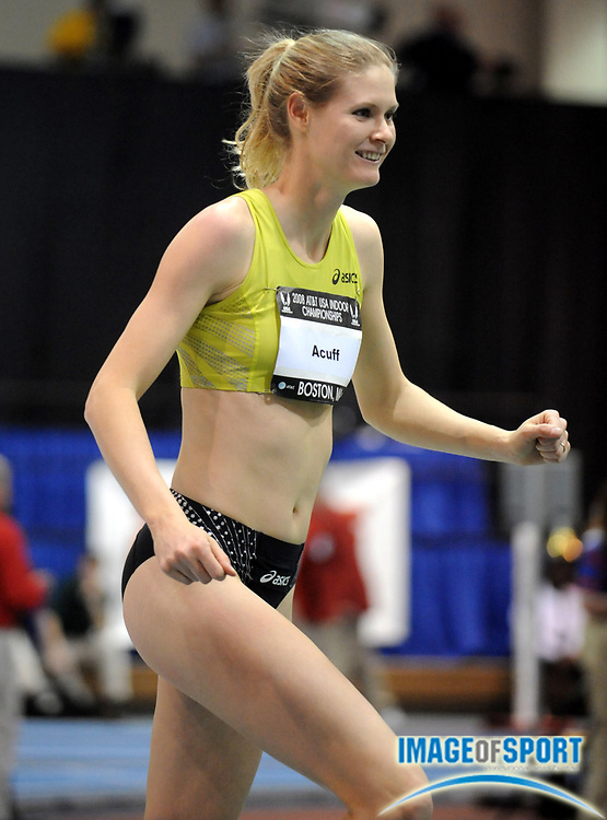 Feb 23, 2008; Boston, MA, USA; Amy Acuff won the women's high jump at 6-3 1/2 (1.92m) in the AT&T USA Track & Field Indoor Championships at the Reggie Lewis Center.