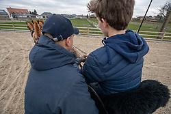 Mennen met, Geerts Glenn, Spits Thibeau<br /> Stal Geerts - Oostmalle 2020<br /> © Hippo Foto - Dirk Caremans<br /> 14/01/2020