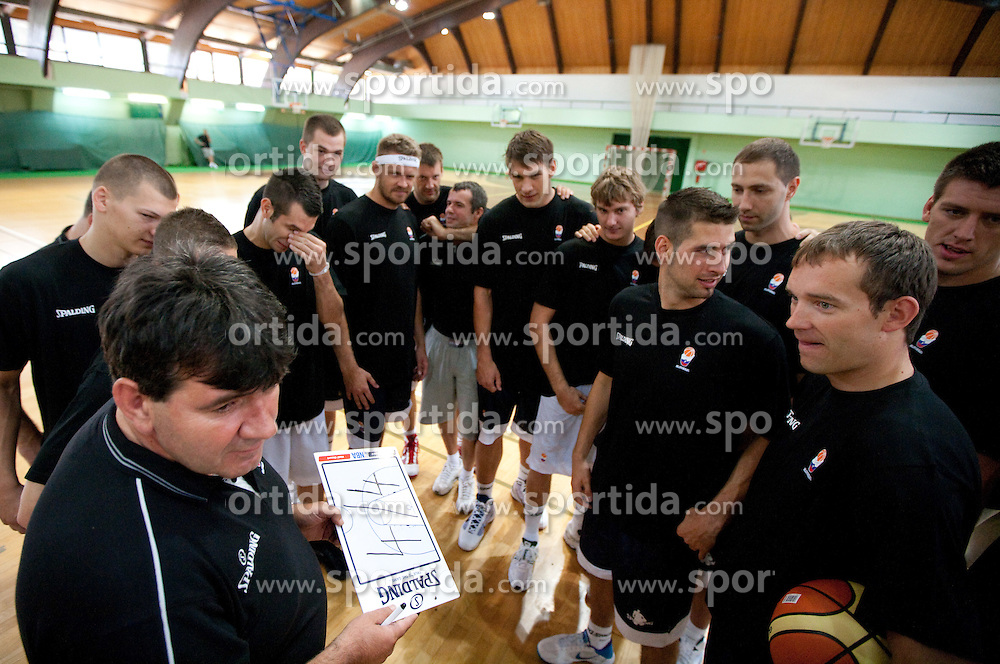 Head coach Memi Becirovic at practice session of Slovenia basketball team on media day on July 16, 2010 at Rogla sports center, Slovenia. (Photo by Vid Ponikvar / Sportida)