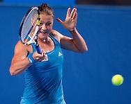 Dinara Safina (RUS) [2]<br /> 2010 Australian Open Tennis<br /> Womens Singles<br /> First Round<br /> 18/01/10<br /> &quot;Hisense Arena&quot; Melbourne Park, Melbourne, Victoria, Australia<br /> Photo By Lucas Wroe