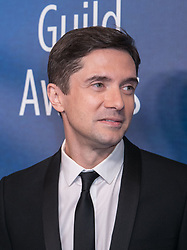 February 17, 2019 - Los Angeles, California, United States of America - Topher Grace in the press room of the 2019 Writers Guild Awards at the Beverly Hilton Hotel on Sunday February 17, 2019 in Beverly Hills, California. JAVIER ROJAS/PI (Credit Image: © Prensa Internacional via ZUMA Wire)
