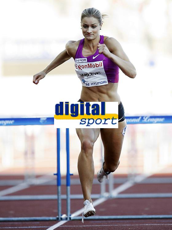 Friidrett, 4. juni 2010,  Diamond League , Bislett Games Oslo<br /> <br /> <br /> Christina  Vukicevic , Norge 100 meter hekk