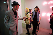 PAUL SIMONON; PAM HOGG,, Tracey Emin opening. White Cube. Mason's Yard. London. 28 May 2009.