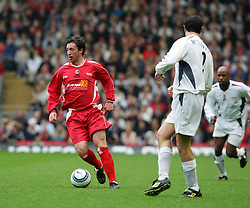 LIVERPOOL, ENGLAND - SUNDAY MARCH 27th 2005: Liverpool Legends' Robbie Fowler in action against the Celebrity XI during the Tsunami Soccer Aid match at Anfield. (Pic by David Rawcliffe/Propaganda)