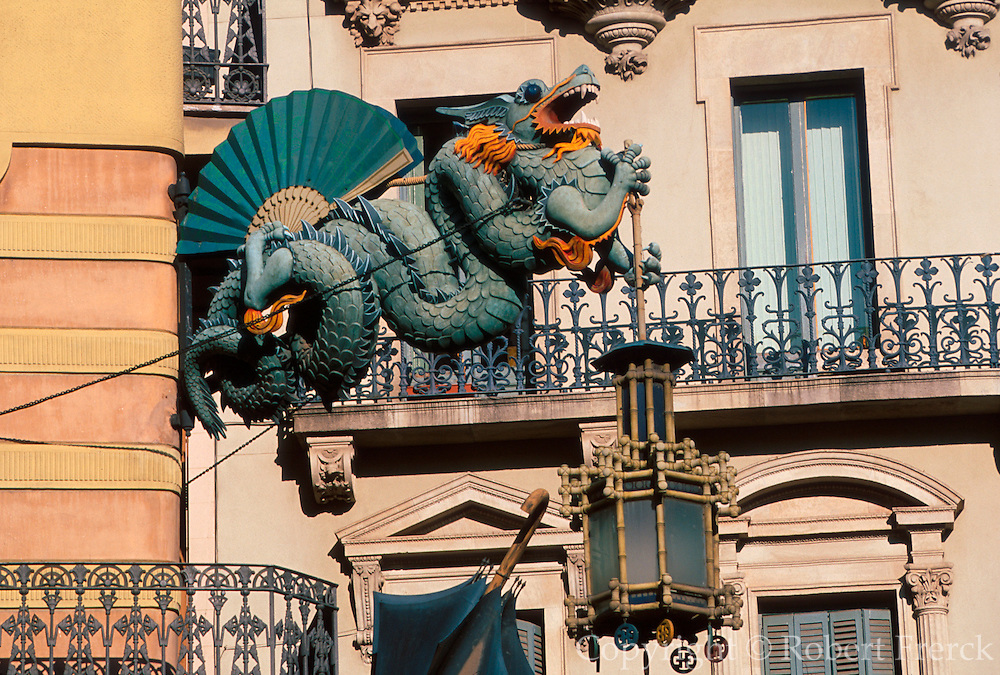SPAIN, BARCELONA Las Ramblas, Art Nouveau detail