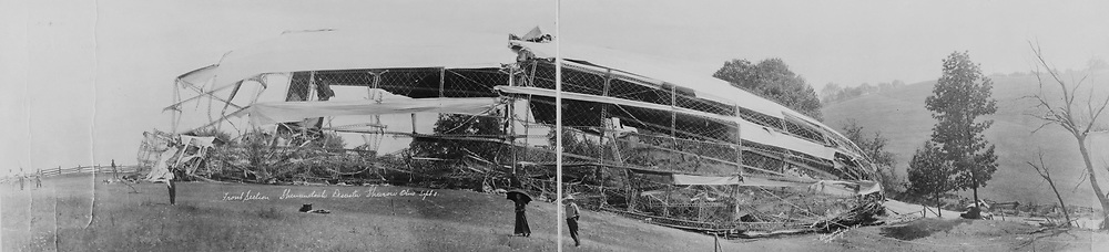Front section, Shenandoah disaster, Sharon, Ohio,1925. Aeronautical accident.