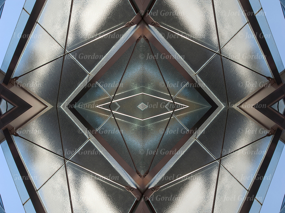 Computer generated digital glass and steel canopy.<br />