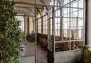 ITALY, Franciacorta area, Roveto, Monte Orfano, Convento dell'Annunciata. a little glasshouse