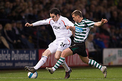 BOLTON, ENGLAND - Thursday, March 6, 2008: Bolton Wanderers' Joseph O'Brien and Sporting Clube de Portugal's Marat Izmailov during the UEFA Cup Round of 16 1st Leg match at the Reebok Stadium. (Pic by David Rawcliffe/Propaganda)