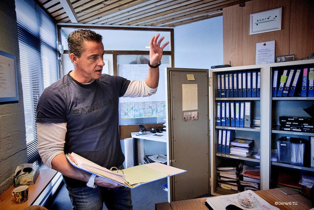Nederland, Zaandam, 07-02-2013 .  Stef Hendriks manager detectivebureau Griffin & Miller.  Foto: Gerard Til