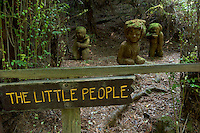 The Little People Redwood Sculptures at The Trees of Mystery, Klamath, California