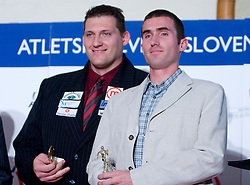Miroslav Vodovnik and Damjan Zlatnar at Best Slovenian athlete of the year ceremony, on November 15, 2008 in Hotel Lev, Ljubljana, Slovenia. (Photo by Vid Ponikvar / Sportida)