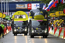 July 2, 2017 - Liege, Belgique - Liege, Belgium - July 2 :  Illustration picture of the publicity caravan during stage 2 of the 104th edition of the 2017 Tour de France cycling race, a  stage of 203 kms between Dusseldorf and Liege on July 2, 2017 in Liege, Belgium, 2/07/2017 (Credit Image: © Panoramic via ZUMA Press)
